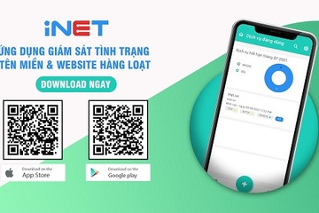 """iNET Monitor - Công cụ """"kiểm tra sức khỏe"""" website, tên miền tự động"""
