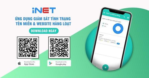 iNET Monitor - Công cụ 'kiểm tra sức khỏe' website, tên miền tự động