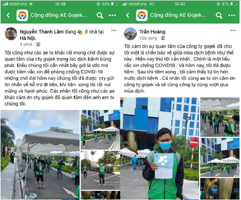 Hàng loạt tài xế Gojek tại Hà Nội tiêm vắc xin Covid-19, sẵn sàng hoạt động trở lại