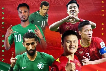 Xem bóng đá trực tuyến: Việt Nam gặp Saudi Arabia lúc 1h00 ngày 3/9