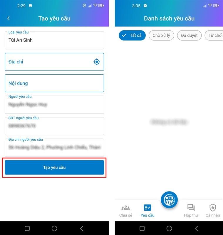 Hướng dẫn đăng ký gói an sinh xã hội TP.HCM trên app
