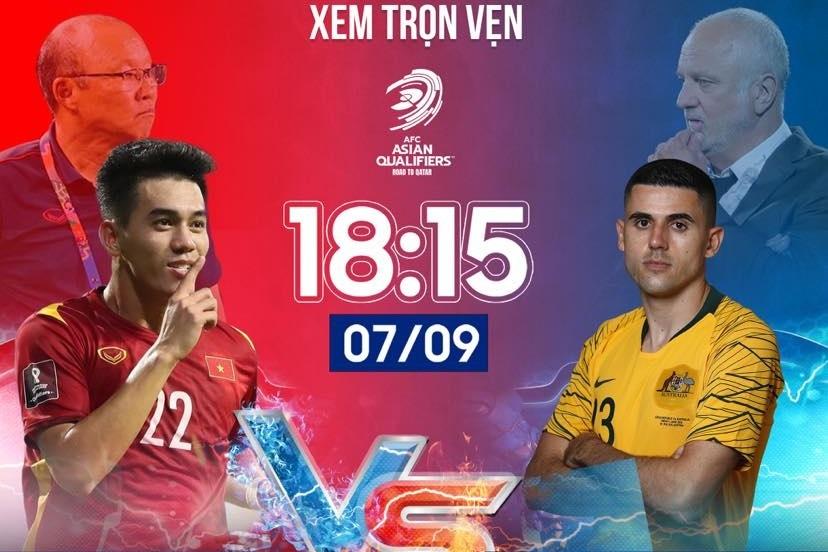 Xem bóng đá trực tuyến: Việt Nam gặp Australia lúc 19h00 ngày 7/9