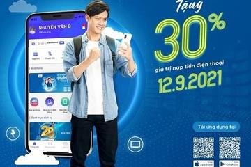 Tải MobiFone Pay nhận ngay khuyến mại 30% khi nạp tiền điện thoại.