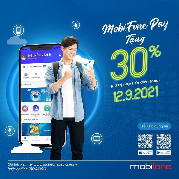 MobiFone,MobiFone Pay,khuyến mại,nạp tiền điện thoại