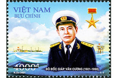 """Stamps of """"General of Truong Sa"""" Giap Van Cuong issued"""