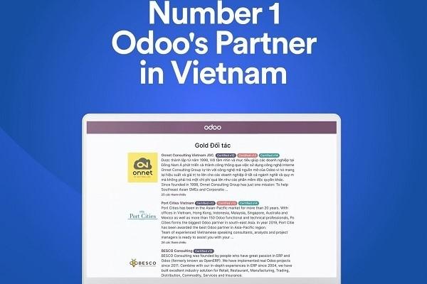 Onnet Consulting trở thành đối tác số 1 của Odoo tại Việt Nam