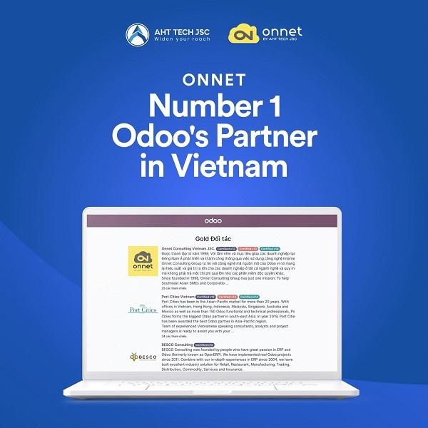 Odoo,Onnet,đối tác vàng