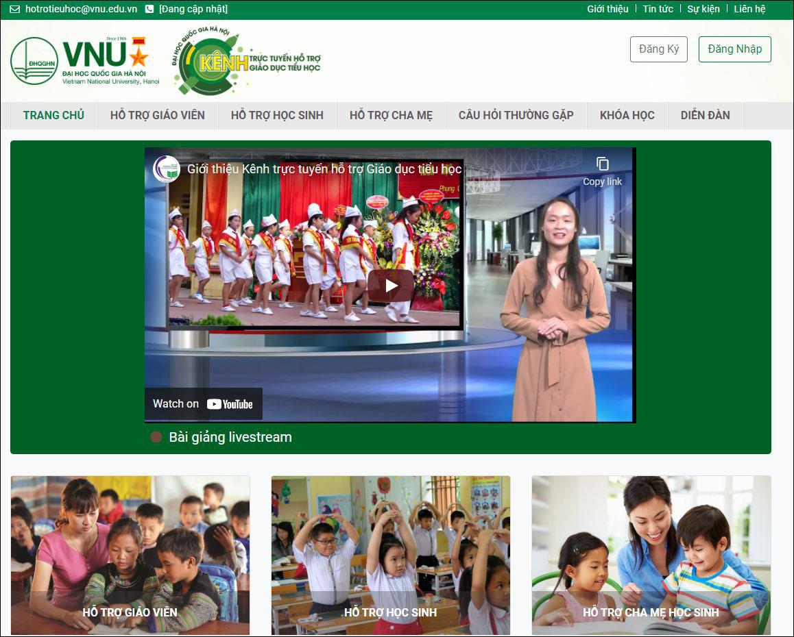 Ra mắt kênh trực tuyến hỗ trợ giáo dục tiểu học
