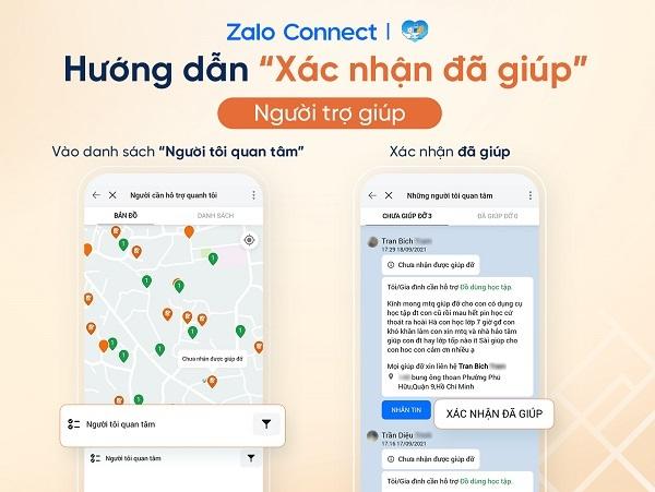 Hỗ trợ đồ dùng học tập cho học sinh qua Zalo Connect