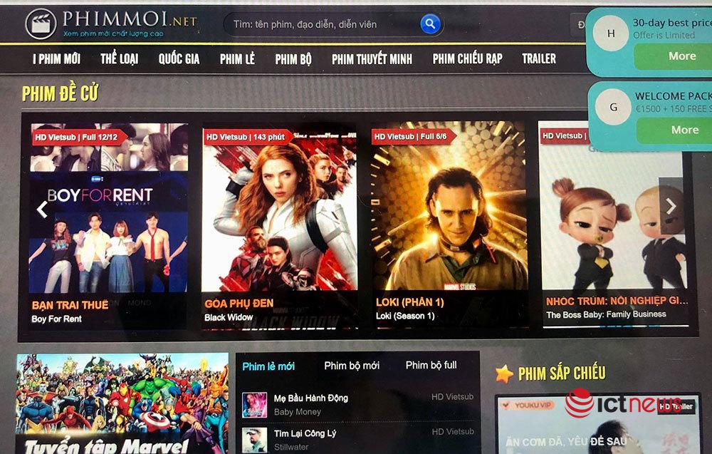 Web phim lậu Phimmoi ngang nhiên hoạt động trở lại?