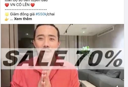 Mạo danh nghệ sĩ để bán hàng online