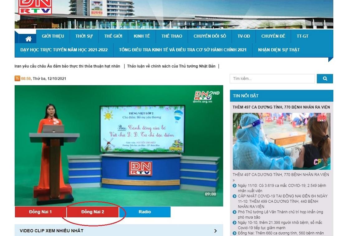 Hướng dẫn học trên truyền hình Đồng Nai trực tuyến