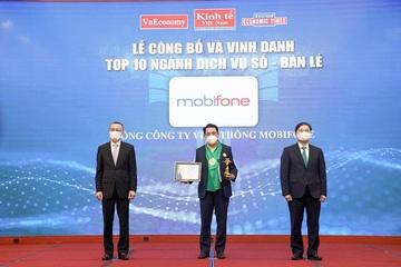 MobiFone được vinh danh Top 10 ngành Dịch vụ số - Bán lẻ thương hiệu mạnh Việt Nam 2020 - 2021