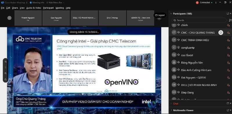 CMC Telecom,CMC Cloud Camera,công nghệ Intel