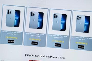 Cửa hàng nhỏ lẻ thu gom iPhone 13 để bán lại kiếm lời