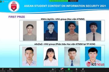 Học viện Kỹ thuật Mật mã giành cả 2 giải Nhất vòng sơ khảo cuộc thi kỹ năng ATTT