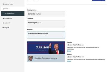 Mạng xã hội của ông Trump bị hack khi vừa ra mắt